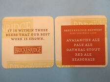 Beer Coaster ~*~ BRECKENRIDGE Brewing Co Avalanche Ale, Oatmeal Stout, Seasonals
