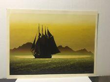"Elton Bennett ""The Sea Road"" Nautical Art Serigraph Silkscreen Print Signed"