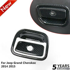 Fit Jeep Grand Cherokee 11+ Co-pilot Storage Box Handle Trim Cover Carbon Fiber