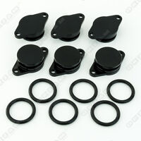 6x 32mm BLACK ALUMINIUM SWIRL FLAP REPLACEMENT + O-RING FOR BMW 3 SERIES NEW