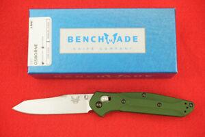 BENCHMADE 940 AXIS LOCK, CUSTOM OSBORNE DESIGN, CPM-S30V GREEN KNIFE