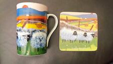 "New listing Thomas Joseph Sheep Inspired ""Baaad Girls"" Coffee / Tea Mug & Coaster - Euc"