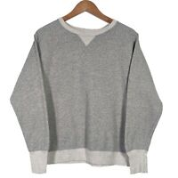 CHAMPION Grey Long Sleeve Round Neck Sweatshirt Jumper - Mens Medium