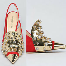 Authentic Obseession Rules Red Diamond-shaped High Heel