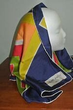 VINTAGE 1960's, 70's? MOD JEAN PATOU HAND ROLLED SQUARE SILK SCARF