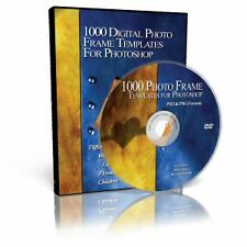 1000+ DIGITAL PHOTO FRAME TEMPLATES 4 PHOTOSHOP on DVD