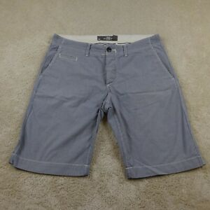 H&M Shorts Adult 33 Blue White Striped Outdoors Zip Casual Cotton Pockets Mens