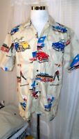 MEN'S PACIFIC LEGEND MADE IN HAWAII FLORAL HAWAIIAN XL BUTTON SHIRT