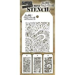 Tim Holtz Mini Layering Stencil ~ SET 47 ~ THMST047 ~ Stampers Anonymous