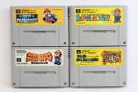Lot 4 Mario World Kart RPG All Stars Collection SFC Super Famicom Japan Import