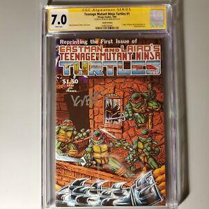 TEENAGE MUTANT NINJA TURTLES #1 (1985 Mirage) Signed CGC 7.0 Fourth Printing
