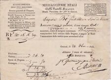 Sardina-1823 Private carriage for one parcel from Genoa to Sestri Levante