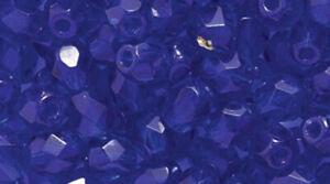 4mm Cobalt Blue Faceted Round Fire Polished Czech Glass Beads 100 Preciosa