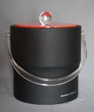 Vintage Bucket Brigade Morgan ice bucket rare Black and Red Modern Design