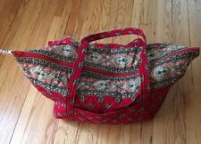Vera Bradley Miller bag in Retired RED pattern  Indiana Tags EUC