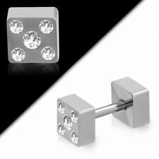 Piercing Cartilage Barbell Straight Stainless Steel Black with Some Lucky