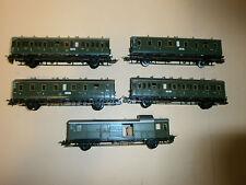 DRG Zugset  5 teilig  Oldtimer Personenwagen Ep II TRIX  Express H0