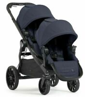Baby Jogger City Select Lux Twin Tandem Double Stroller w Second Seat Indigo NEW