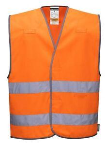 Portwest L474 Hi-Vis Versatile Safety Waistcoat Vest - Hook & Loop Fastening
