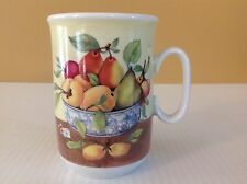1855 Email de Limoges Made R.S.M. Italy Tea cup Coffee mug fruit Pear Peaches