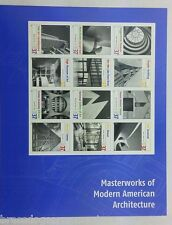 Masterworks of Modern American Architecture #3910  12 Stamps per sheet MNH