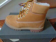 Timberland Big Kids 6 inch Classic Waterproof Shearling Boots Wheat TB0A13J5