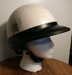 Vintage Bell Toptex CA Motorcycle Police Helmet Chevrons Sergeant Size 7 1/8 M