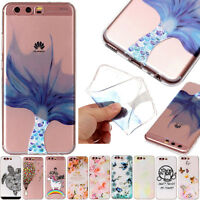 For Huawei P9 P10 Lite Painted Embossed Gel Soft Silicone TPU Slim Phone Case