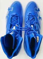 Under Armour Men Size 12 UA Highlight MC Football Cleats Blue/White 3000177-401