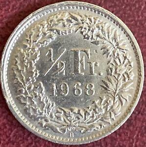 Switzerland - 1/2 Franc Coin - 1968 (GY8)