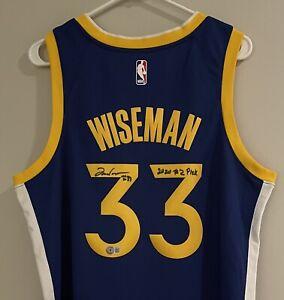 James Wiseman Signed Golden State Warriors Nike NBA Auto Swingman Jersey BAS COA