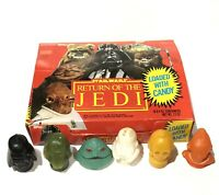 VTG STAR WARS CANDY Container RETURN JEDI DISPLAY BOX RARE Boba Fett Lot Ackbar