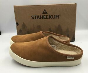 NEW Staheekum Women's Cami Mule Slipper Chestnut Size 10