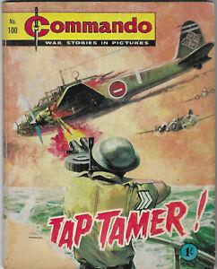 "Dated 1964. Vintage COMMANDO War Picture Comic #100. ""Jap Tamer"""