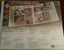 Creative Memories 10 x 12 Paper pack - Printed Vellum