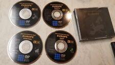 TOYOTA LEXUS TNS600/700 NAVIGATIONGEN 3/5  DISC DVD SAT NAV MAP FULL SET UK EUR