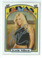 Torrie Wilson Signed 2007 Topps WWE Heritage Divas Card #60