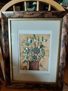 Rozann Original. Art. Jewelry Flower Collage.