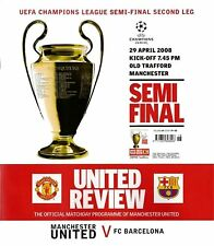 Manchester United v Barcelona de la Liga de Campeones de pierna semi-final 2nd 2007/08