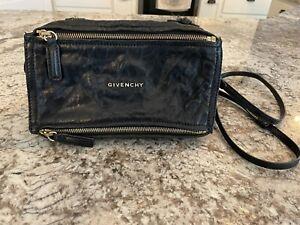 Givenchy Womens PANDORA Mini Leather Shoulder Bag Black