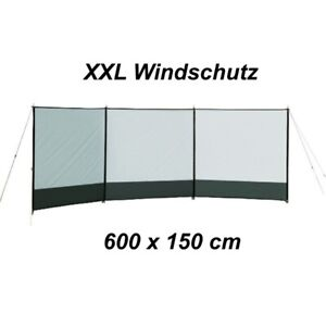 XXL Windbreaker 600 x 150 cm  Sichtschutz Windschutz Camping Paravent NEU #7832