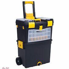 Mobile Tool Box Storage Organizer Cart Heavy Duty Portable Wheels Rolling Black