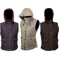 Ladies Quilted hooded jacket gilet bodywarmer Size 12 14 16 18 22 Hunter Outdoor