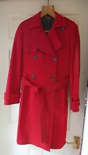 Tommy Hilfiger Red Tie Belted Trench Coat Size: M - Beautiful All Year Round!