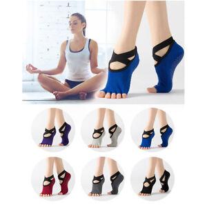 Women Yoga Backles Five Toe Anti-Slip Ankle Dots Ballet Fitness Gym Ladies Sp*wk