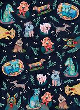 Dog Park Cotton Tea Towel - Allen Designs Approx Size 50cm x 70cm