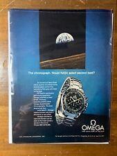 Omega Print Ad (1970) - First Watch On Moon - NASA