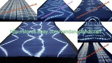 Wholesale mix lot Indian shibori tie dye hand printed indigo blue fabric 5 yard