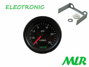 52MM 30PSI Calibro di Spinta Nero Viso Elettronica Motore Movimento