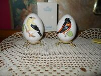 Goebel Collectible Annual Eggs 1987 & 1989 10th and 12th edition birds